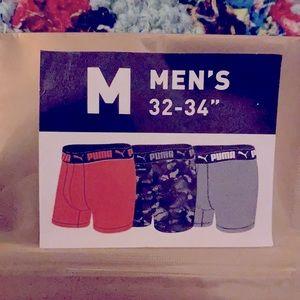 NWT 3 pack Puma Men's Boxers Brief size M